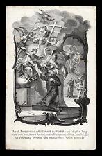 santino incisione1800 S.FRANCESCO D'ASSISI RICEVE PERDONO DELLA PORZIUNCOLA