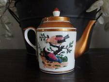 PARIS TEAPOT Miniature COLLECTIBLE handpainted