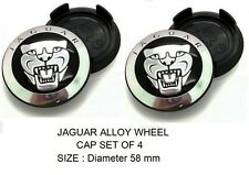 413- ALLOY WHEEL RIM CENTRE HUB CAP JAGUAR LOGO 58 mm XE XJ XF TYRE TIRE NEW