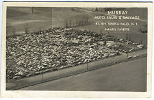 Seneca Falls NY Aerial View Murray Auto Sales Salvage Real Photo RPPC Postcard