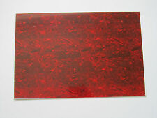 Red Tortoise 3 Ply Blank Pickguard Scratch Plate Material Sheet 290x430(mm)