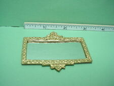 Dollhouse Miniature Gilded Framed Mirror  #OM2 Poli-Resin Sprayed Gold 1/12th