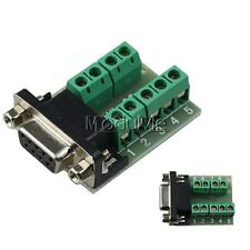 2*DB9 Connect Female Adapter Signals Terminal Module RS232 Serial to Terminal M