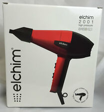 Elchim 2001 Professional Salon Pro Hair Dryer Classic Red Black