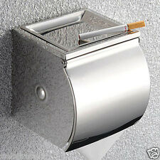 Bathroom Chrome Stainless Steel Wall Mounted Toilet Paper Roll Holder Tissue Box