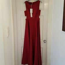Bnwt ted baker red cut out maxi dress size 10 (2)