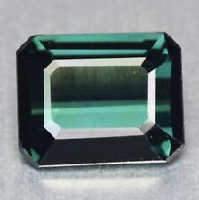 1.21ct Natural Octagon-cut rare Greenish-Blue color IF Tourmaline