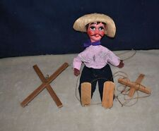 VINTAGE PAPIER-MÂCHÉ & WOOD HAND-PAINTED PUPPET WITH STRING CONTROLLERS
