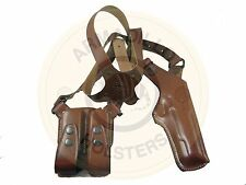 Armadillo  Tan Leather Verticall Shoulder Holster for Glock Models P1V