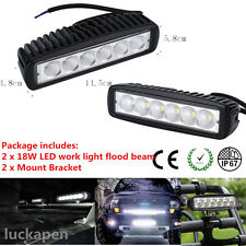 2x 18W Spot 6LED Work Light Car Truck Boat Driving Fog Offroad SUV 4WD Bar LKP
