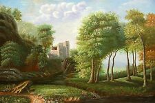 """OIL PAINTING ON CANVAS -  LA FORET    size 36""""x24"""""""