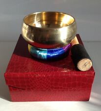 Tibetan Singing Bowl Big 11cm Gift Set cushion gift box Buddhism meditation