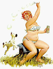 Wall Calendar 2017 [12 pages A4] Hilda Chubby PinUp Girl Redhead Vintage M417