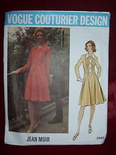 1973 VOGUE COUTURIER DESIGN #2663- DESIGNER JEAN MUIR - LADIES DRESS PATTERN  10