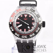 Swatch Scuba SUUK400 Stormy Black Dial Black Silicone Rubber Quartz Watch