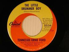 TENNESSEE ERNIE FORD Christmas 45 LITTLE DRUMMER BOY/SING WE NOW VG/VG TO VG+