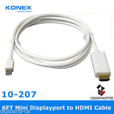 6FT Mini DisplayPort DP MDP display port to HDMI Male Adapter cable For Apple