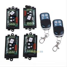2PCS Wireless Remote Relay RF Control Switch System + 4PCS Receiver 315MHZ 220V