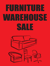 "FURNITURE WAREHOUSE SALE 18""x24"" BUSINESS STORE RETAIL SIGNS"