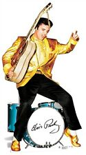 SC-578 Elvis Presley Gold Jacket and Drums Aufsteller Pappaufsteller Lebensgroß