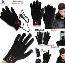 Bluetooth 3.0 Talking Gloves Mobile Headset Speaker For iPhone Samsung Nokia HTC