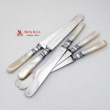 Dinner Knives 5 Master of Pearl Sterling Landers Frary Clark Vanderslice 1880