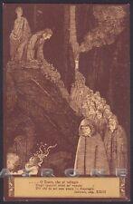 EZIO ANICHINI INFERNO DIVINA COMMEDIA Divine Comedy DANTE DANTESCA Cartolina 21c