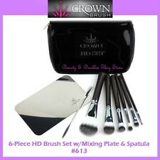 NEW Crown Brush 6-Piece HD Brush Set w/Mixing Plate & Spatula FREE SHIPPING 613