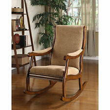 Furniture of America Antique Oak Rocking Chair Seat Home Home Old Fashioned NEW