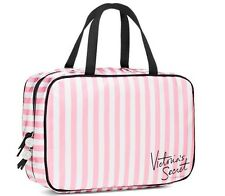 New In Bag VICTORIA'S SECRET Signature Pink TRAVEL COSMETIC MAKEUP CASE BAG TOTE
