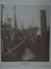 c1880 Frank Meadow Sutcliffe Print Trawlers St Andrews Dock Kingston Upon Hull