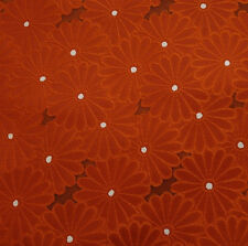 Japanese vintage kimono silk fabric Field of Chrysanthemum
