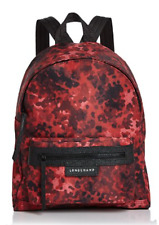 Longchamp Le Pliage Neo Fantaisie Backpack_Ruby Red_NWT