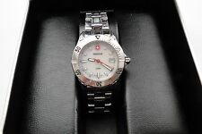SWISS ARMY-WENGER-MOP DIAL-200M STAINLESS WOMEN'S DATE WATCH