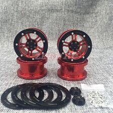 """4P 2.2"""" Alloy Beadlock Wheels RED For 1/10 AXIAL WRAITH RC Crawler Car Rims"""