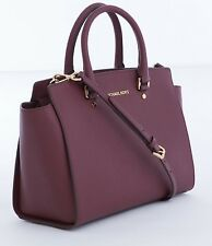 MICHAEL KORS LADIES LEATHER HANDBAG to SHOULDER hand 30S3GLMS7L SELMA MERLOT
