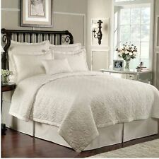 Waterford Linens Lismore Ivory Queen Quilt
