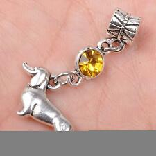 5pcs tibetan Silver dog connector Pendant Beads Fit necklace pendants