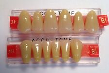Acrylic False Teeth For Dentures. Accutone,shade81,upper & lower Anterior 3R Set