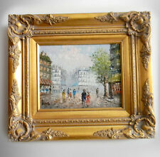 Caroline Burnett oil painting on canvas - Paris street scene - FREE SHIPPING