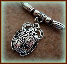 Egyptian Pendant Necklace Jewelry Art Deco Antique Vintage look Scarab Beetle