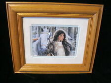 """Indian Native Art American Signed Print - MAIJA  13-1/2 """" X 12"""" Framed & Matted"""