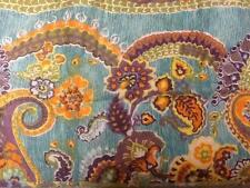 2 Cynthia Rowley Whimsical Moroccan Standard Size Quilt Shams Orange Purple Blue