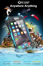 R-just IP68 Glass Diving GUMDAM Metal Bumper Waterproof Case for iPhone 6 s 4.7""
