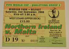 Ticket for collectors World Cup q * Northern Ireland - Malta 2000 in Belfast