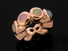 Bd027- GENUINE 9K 9ct SOLID Rose Gold NATURAL Opal Bead Charm Roundelle