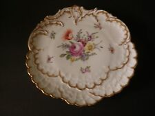 Antique Helena Wolfsohn Dresden Hand Painted Embossed Cabinet Plate