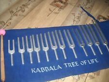 Kabbalah Tree of Life Tuning Fork Sound Healing Therapy Set of 12 Free Shipping