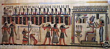 "244 Egyptian Papyrus  HandMade Painting,size 60x120cm (24""x48"") Judgement Day"