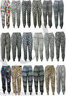New Ladies Womens Floral Ali Baba Harem Hareem Trousers Pants Baggy Leggings 816
